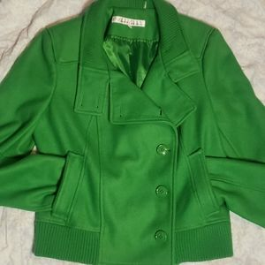 Kenneth Cole wool blend Pea Coat green sz M
